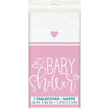 tisch baby shower love rosa