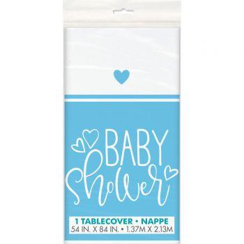 tisch baby shower love blau
