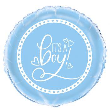 Helium-Ballon Baby shower love blau