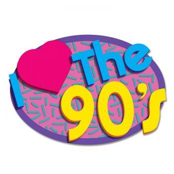 2 Zierdekorationen I Love 90