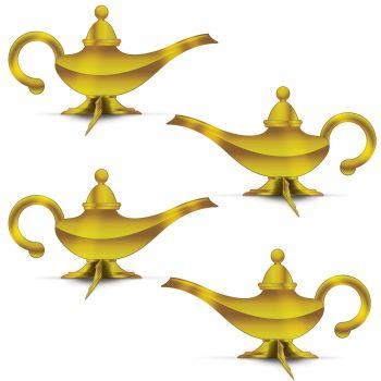 4 orientalische Lampendekorationen