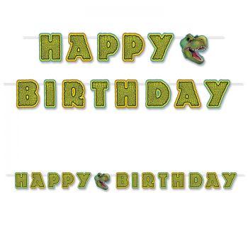 Banner Happy Birthday Dinosaurier
