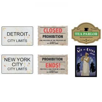 6 passende Schilder