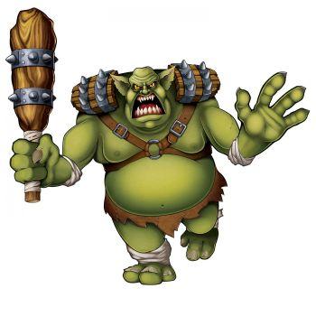 Riesiger Troll-Dekor