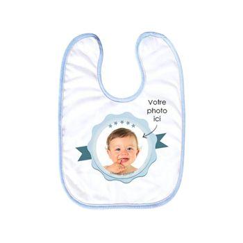 Benutzerdefiniertes Baby-Dekor Label blau