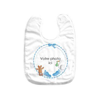 Baby Lätzchen benutzerdefiniertes Dekor baby blau
