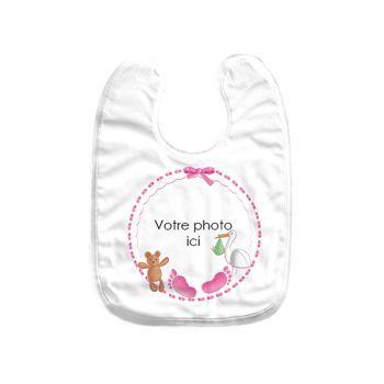 Baby Lätzchen benutzerdefiniertes Dekor baby rosa