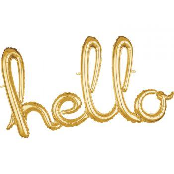 Ballon alu hello Skript gold