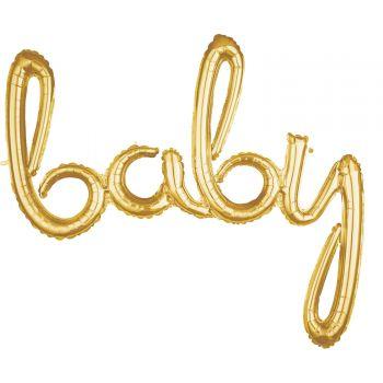 Ballon alu baby Skript gold