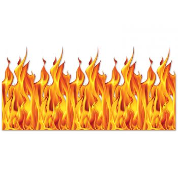 Wanddekoration Flamme