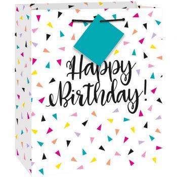 Geschenktasche Birthday Dreieck Konfetti