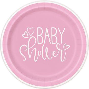 8 Teller baby shower love rosa