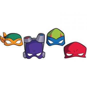 8 Party-Masken Ninja Mutant Schildkröte