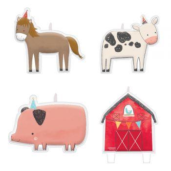 4 Tier-Picknickkerzen vom Bauernhof