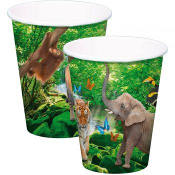 8 Safari-Party-Becher