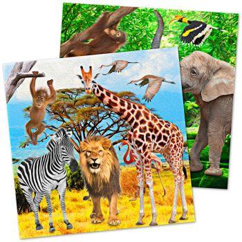 20 Handtücher Safari Party