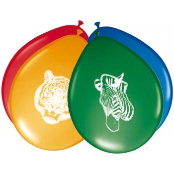 8 Latex Ballons Safari Party