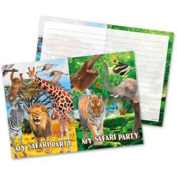 8 Einladungen Safari Party