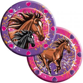 8 Teller Pferdeparty