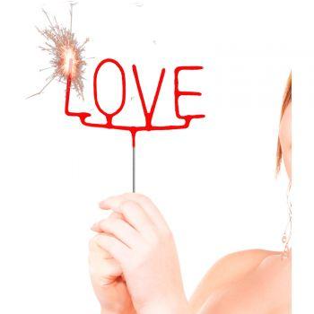 Glitzerkerze LOVE