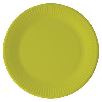 8 kompostierbare Teller grün anis