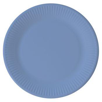 8 kompostierbare Teller blau