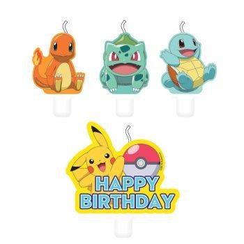 4 Pokemon Kerzen für kuchen