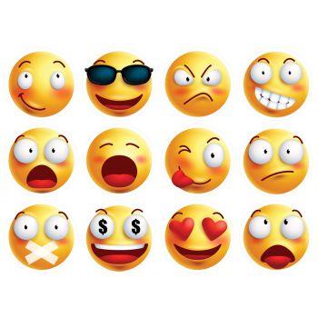 12 Essbare Muffinaufleger Emoji