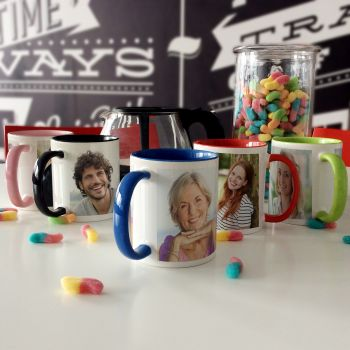 Bicolor personalisierte Tasse