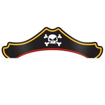 8 Piraten-Schatz Hüte