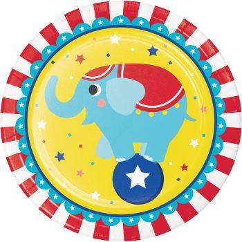 8 Teller zirkus Party
