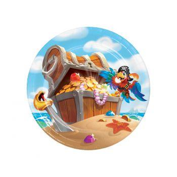 8 Teller Nachtisch Piraten-Schatz