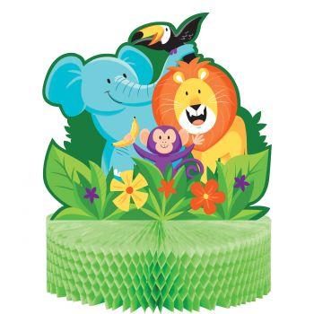 herzstück tischdeko Dschungel party