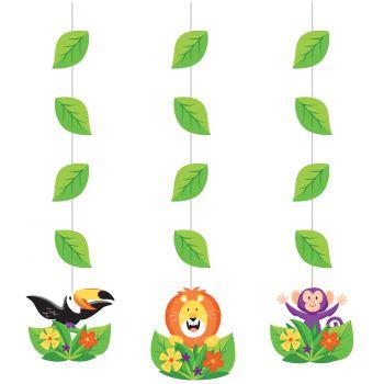 3 Aufhängung Girlande Dschungel party