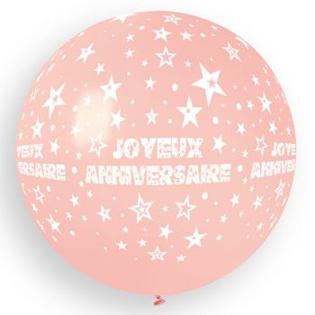 1 Riese Ballon Happy Birthday Baby Ø80cm