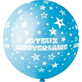 1 Riese Ballon Happy Birthday Ø80cm