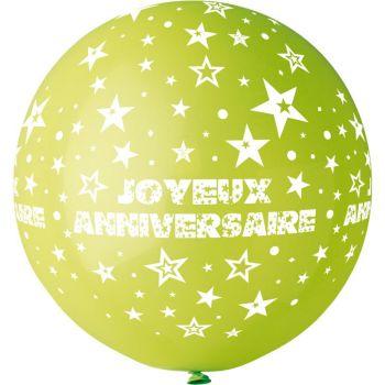 1 Riesiger Ballon Happy Birthday Ø80cm