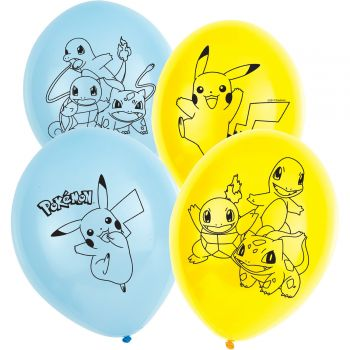 6 Latex Ballons Pokemon