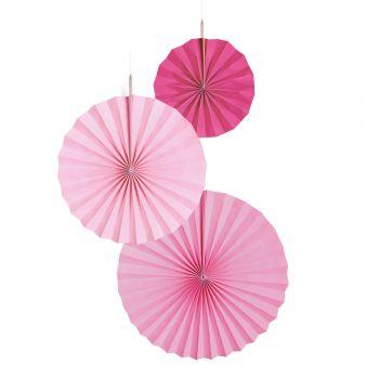 3 Suspensionen Fächer rosa
