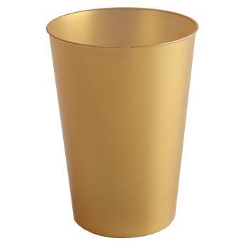 10 Becher PS gold 20 cl