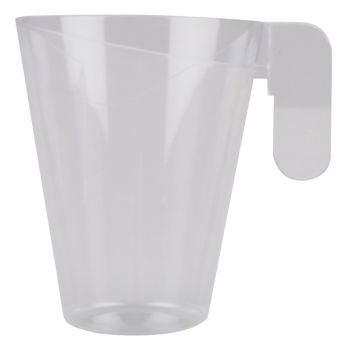 12 Tassen mit transparenten Kunststoff-Design-Tee