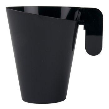 12 Tassen Schwarzes Design-Design Aus Kunststoff