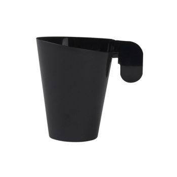 12 Kaffee-Tassen Design schwarz Kunststoff