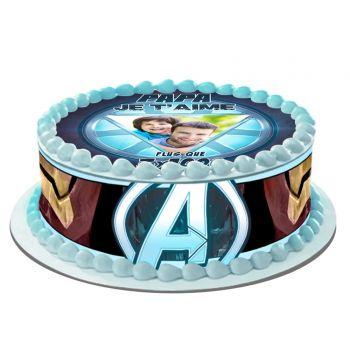 Easycake Kit für personalisierte Kuchen Papa ich liebe dich mehr als 3 x1000