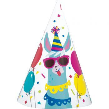 8 Festhüte Lama Birthday