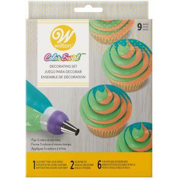 Kit topping tricolore colorswirl Wilton