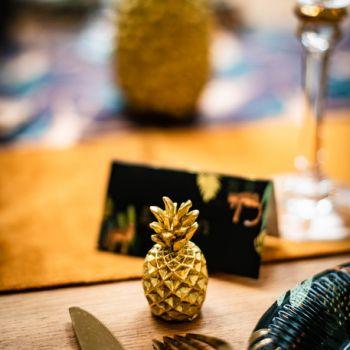 2 marke plätze ananas doré