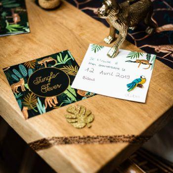 8 Einladungen Dschungel fever