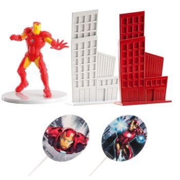Avengers Kuchen-Set Iron man