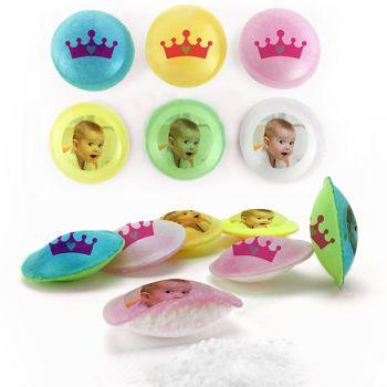 Personalisierte Süßigkeiten Säure-Untertassen-Dekor Prinzessin.